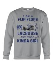 I Am A Flip Flops Kinda Girl - Lacrosse Crewneck Sweatshirt thumbnail