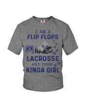 I Am A Flip Flops Kinda Girl - Lacrosse Youth T-Shirt thumbnail