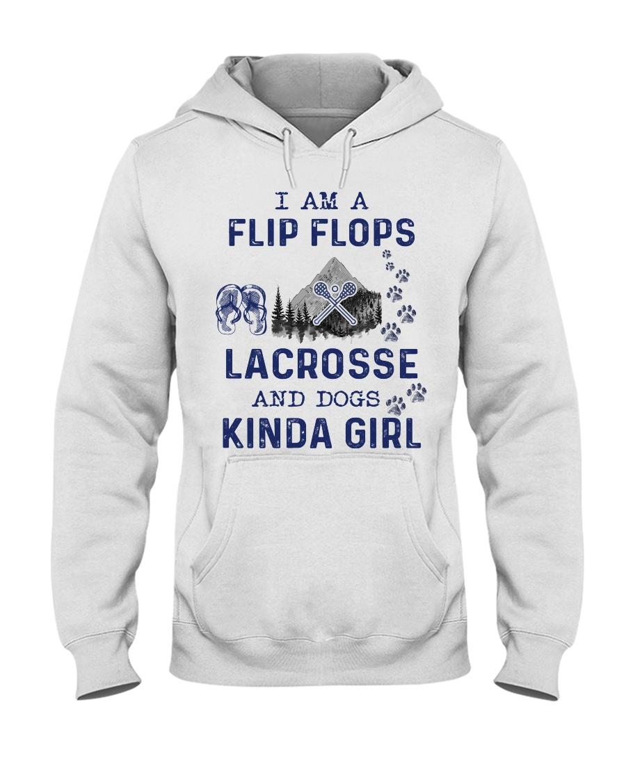 I Am A Flip Flops Kinda Girl - Lacrosse Hooded Sweatshirt
