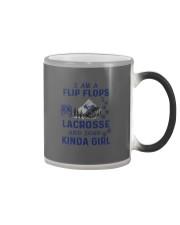I Am A Flip Flops Kinda Girl - Lacrosse Color Changing Mug thumbnail