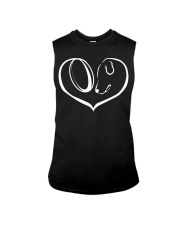 easily distracted by rugby and dog  Sleeveless Tee thumbnail