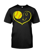 easily distracted by softball and dog-pt  Classic T-Shirt thumbnail