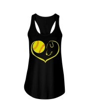 easily distracted by softball and dog-pt  Ladies Flowy Tank thumbnail
