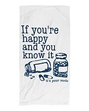 It's your meds Beach Towel tile