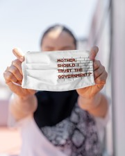 Mother should I trust the government Cloth face mask aos-face-mask-lifestyle-07