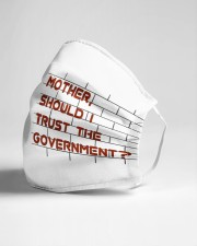 Mother should I trust the government Cloth face mask aos-face-mask-lifestyle-21