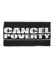 CANCEL POVERTY Cloth face mask front