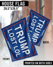 "Trump lost lol 29.5""x39.5"" House Flag aos-house-flag-29-5-x-39-5-ghosted-lifestyle-03"