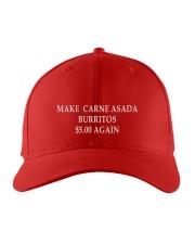 Make carne asada burritos Embroidered Hat front