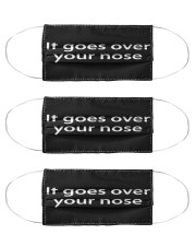 It goes over your nose Cloth Face Mask - 3 Pack front