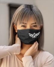 Zelda Triforce Eagle Cloth face mask aos-face-mask-lifestyle-18