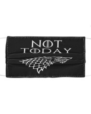 Not Today Cloth face mask front