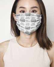 Assistant to the Regional Manager 2 Layer Face Mask - Single aos-face-mask-2-layers-lifestyle-front-01