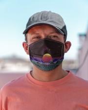 Outrun sunset Cloth face mask aos-face-mask-lifestyle-06