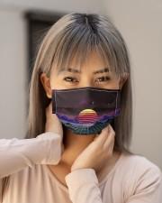 Outrun sunset Cloth face mask aos-face-mask-lifestyle-18