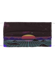 Outrun sunset Cloth face mask front