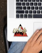 Utah Sticker - Single (Horizontal) aos-sticker-single-horizontal-lifestyle-front-11