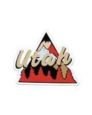 Utah Sticker - Single (Horizontal) front