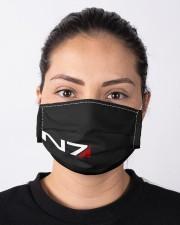 N7 Emblem Mass Effect Cloth face mask aos-face-mask-lifestyle-01