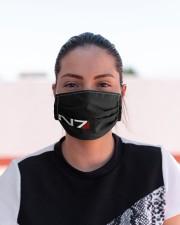 N7 Emblem Mass Effect Cloth face mask aos-face-mask-lifestyle-03