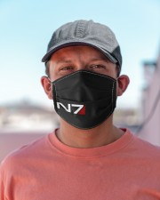 N7 Emblem Mass Effect Cloth face mask aos-face-mask-lifestyle-06