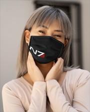 N7 Emblem Mass Effect Cloth face mask aos-face-mask-lifestyle-17