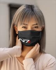 N7 Emblem Mass Effect Cloth face mask aos-face-mask-lifestyle-18