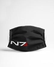 N7 Emblem Mass Effect Cloth face mask aos-face-mask-lifestyle-22