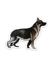 German Shepherd Sticker - Single (Vertical) front