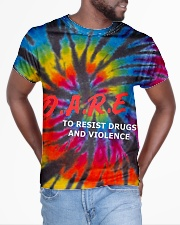 Dare to resist drugs and violence All-over T-Shirt aos-all-over-T-shirt-lifestyle-front-04