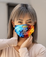 Keep calm and make a dab Cloth face mask aos-face-mask-lifestyle-18