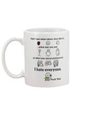 I hate everyone Mug back