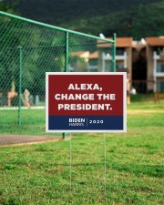 Alexa change the president 24x18 Yard Sign aos-yard-sign-24x18-lifestyle-front-21