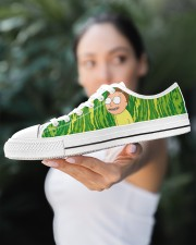 Exclusive Edition Rick and Morty Women's Low Top White Shoes aos-complex-women-white-low-shoes-lifestyle-10