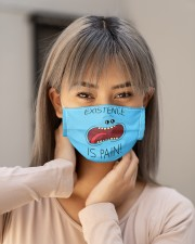 Existence is pain Cloth face mask aos-face-mask-lifestyle-18