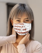 Mother should I trust the government Cloth face mask aos-face-mask-lifestyle-18