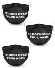 IT-GOES-OVER-YOUR-NOSE 2 Layer Face Mask - 3 Pack thumbnail