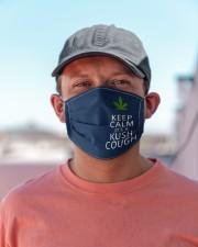 Keep calm it's a kush cough Cloth face mask aos-face-mask-lifestyle-06