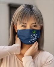 Keep calm it's a kush cough Cloth face mask aos-face-mask-lifestyle-18