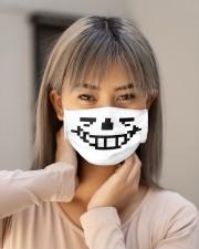 Undertale Sans Cloth face mask aos-face-mask-lifestyle-18