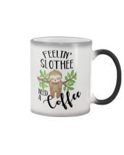 Slothee need a coffee Color Changing Mug tile