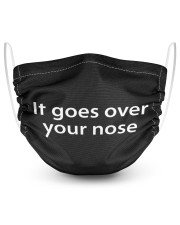 It goes over your nose 2 Layer Face Mask - Single thumbnail