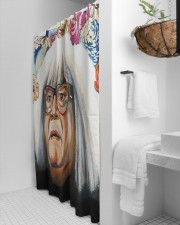 ANGEL LU Shower Curtain aos-shower-curtains-71x74-lifestyle-front-01a