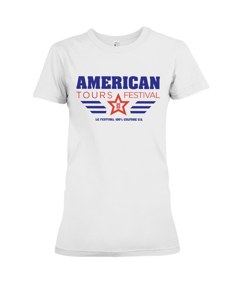 American Tours Festival 2020 T Shirts Premium Fit Ladies Tee