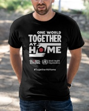 Official One World Toghther At Home T Shirt Classic T-Shirt apparel-classic-tshirt-lifestyle-front-50