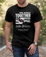 Official One World Toghther At Home T Shirt Classic T-Shirt apparel-classic-tshirt-lifestyle-front-53