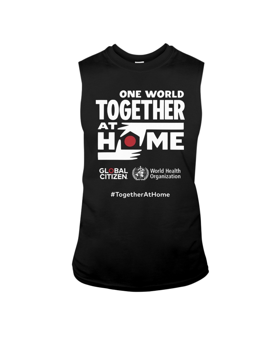 Official One World Toghther At Home T Shirt Sleeveless Tee