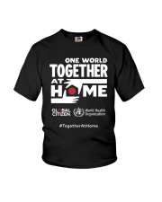 Official One World Toghther At Home T Shirt Youth T-Shirt front