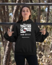 Official One World Toghther At Home T Shirt Hooded Sweatshirt apparel-hooded-sweatshirt-lifestyle-05