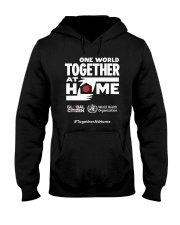 Official One World Toghther At Home T Shirt Hooded Sweatshirt front